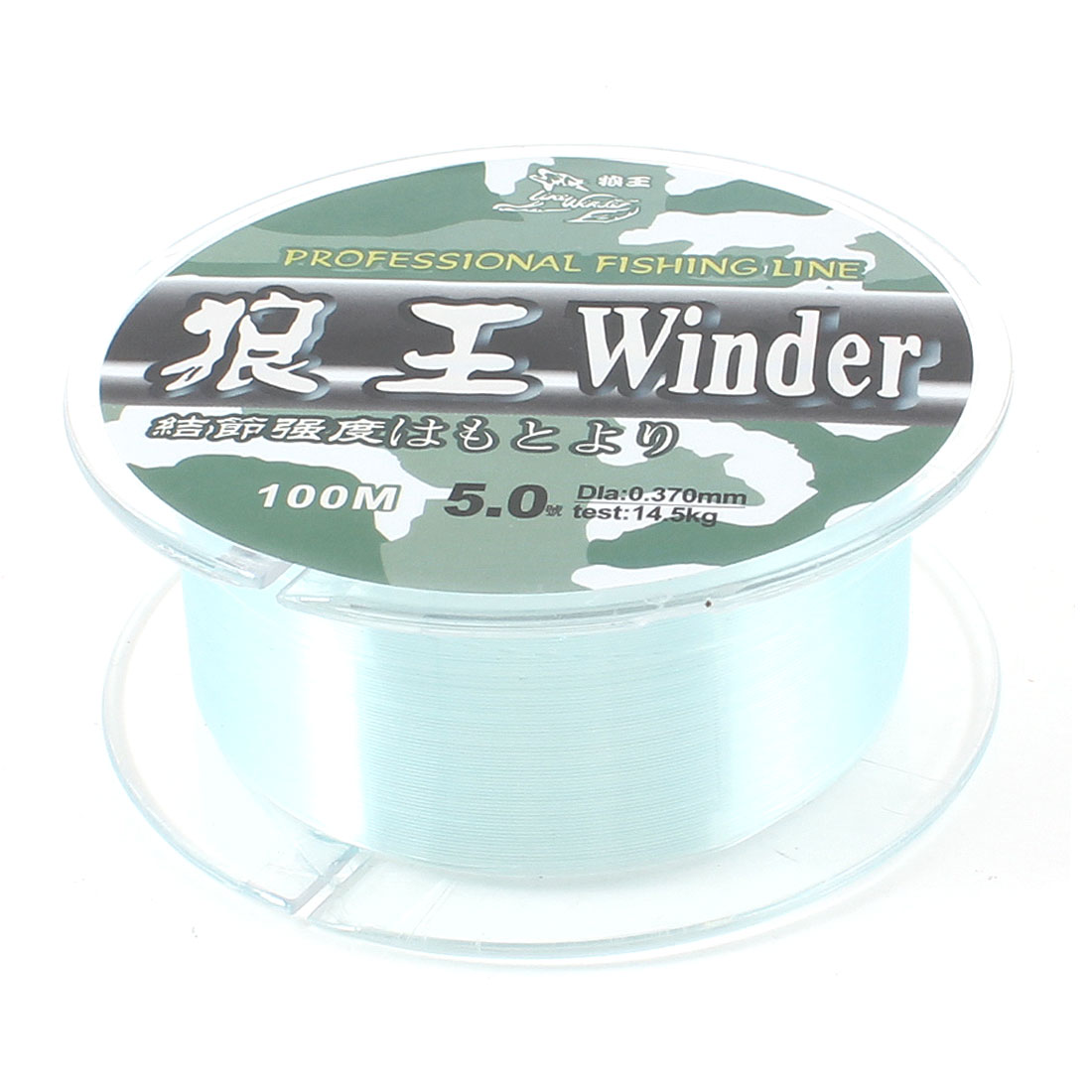 5# 0.37mm Diameter 100M Thread 14.5Kg 32lb Fishing Line Spool Blue
