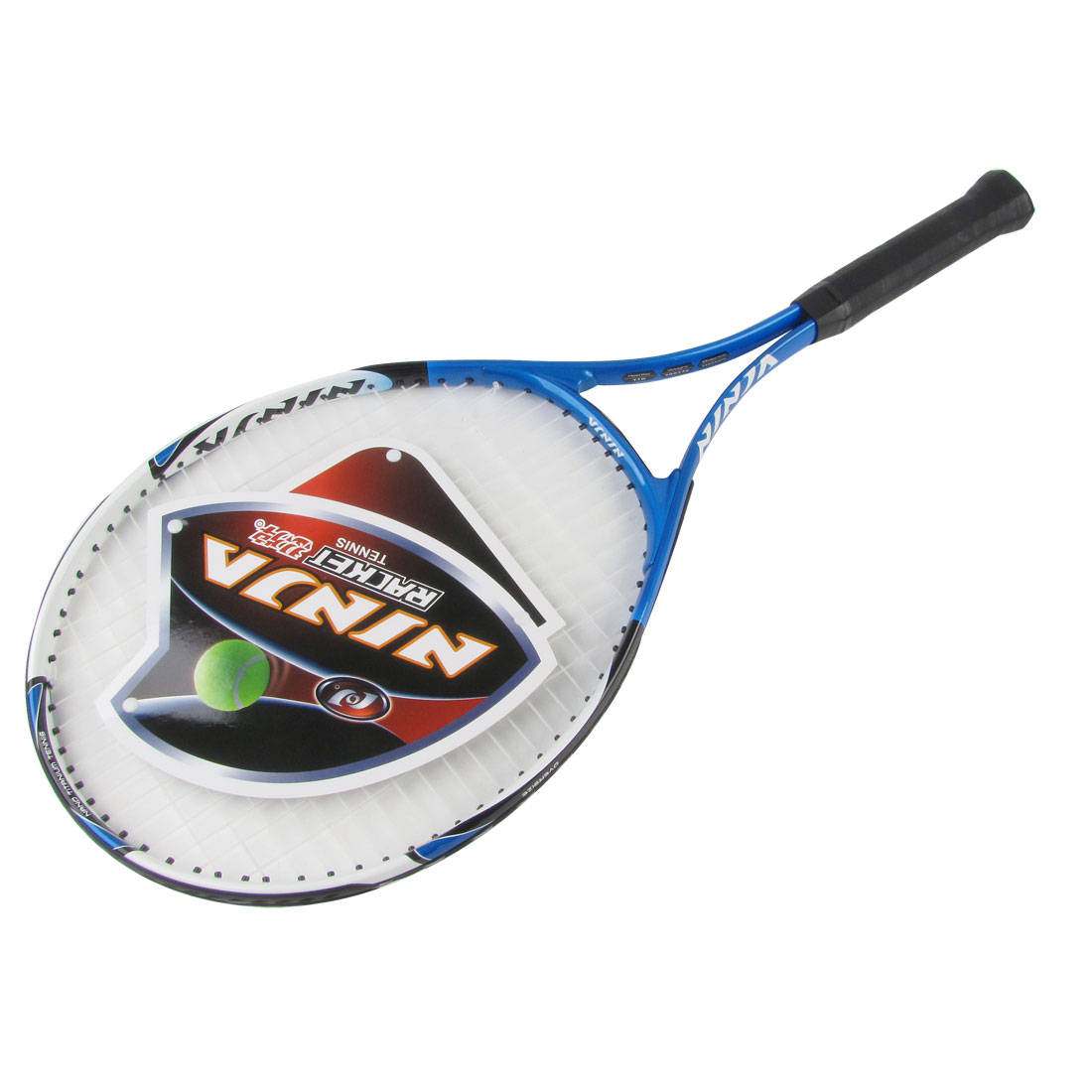 Nonslip Handle White Netting Black Blue Handle Tennis Racket 35cm x 27cm
