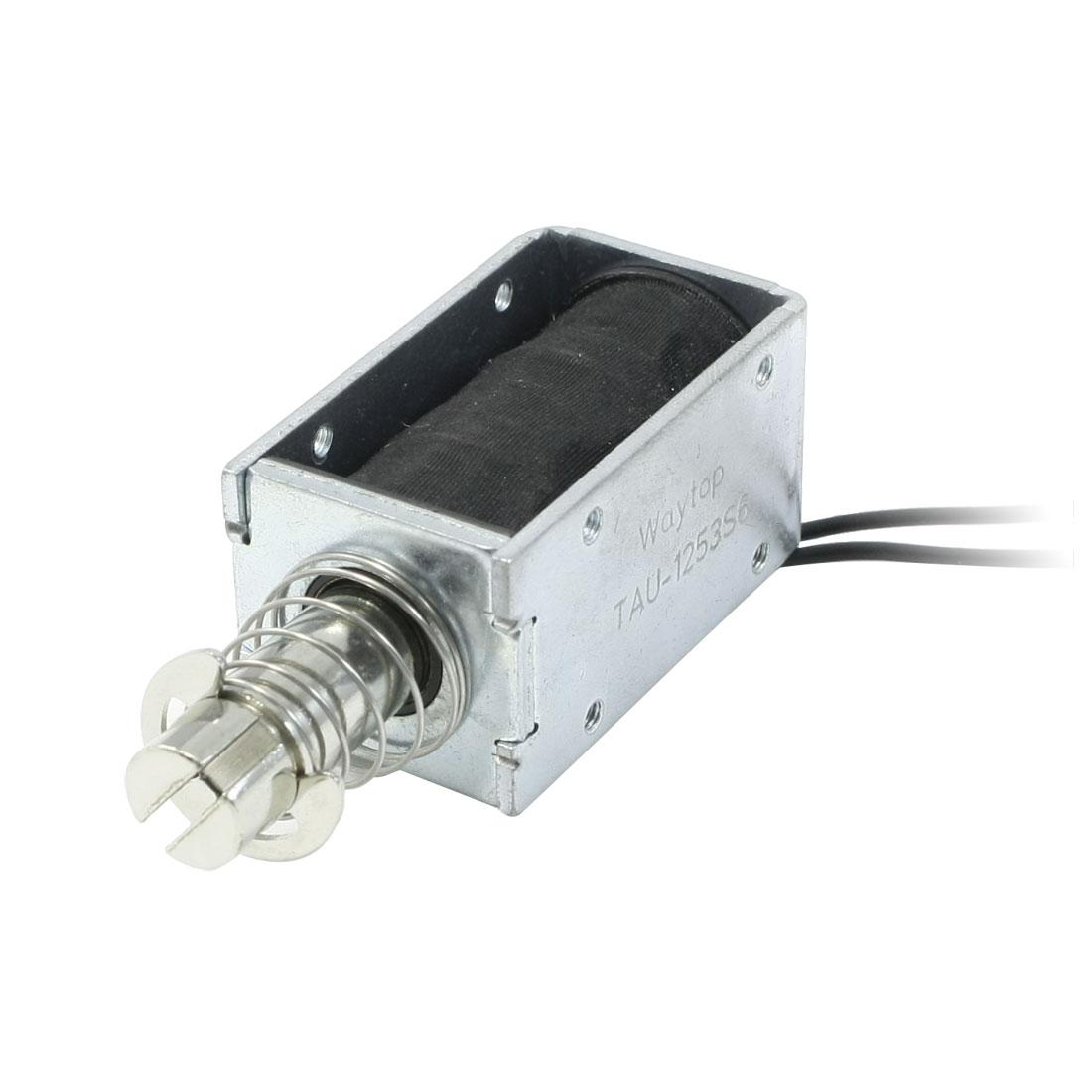 12mm Stroke 0.04Kg Force DC 24V 600mA Push Linear Solenoid Electromagnet