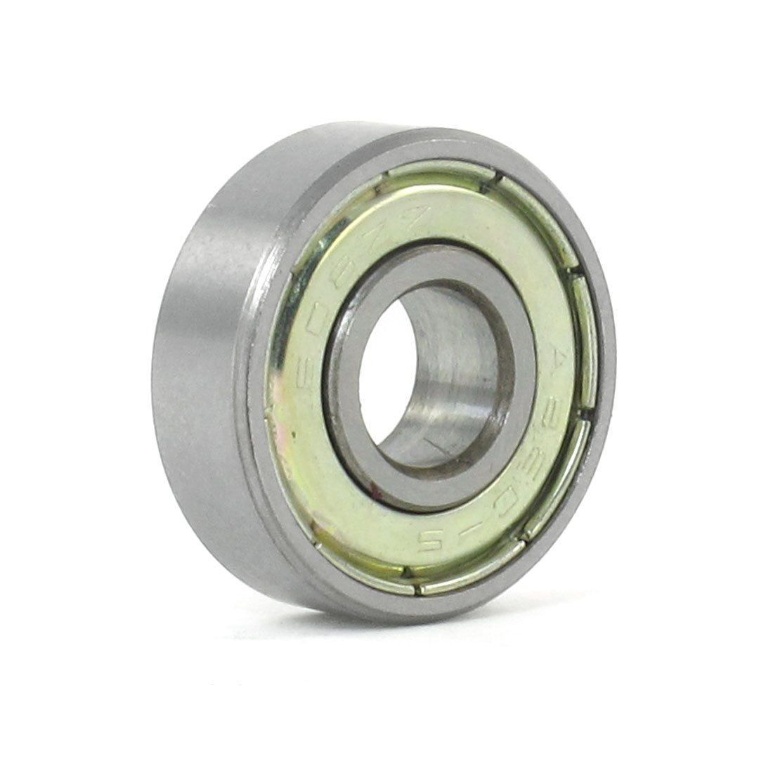 22mm x 8mm x 7mm 608ZZ Radial Shielded Deep Groove Ball Bearing Silver Tone
