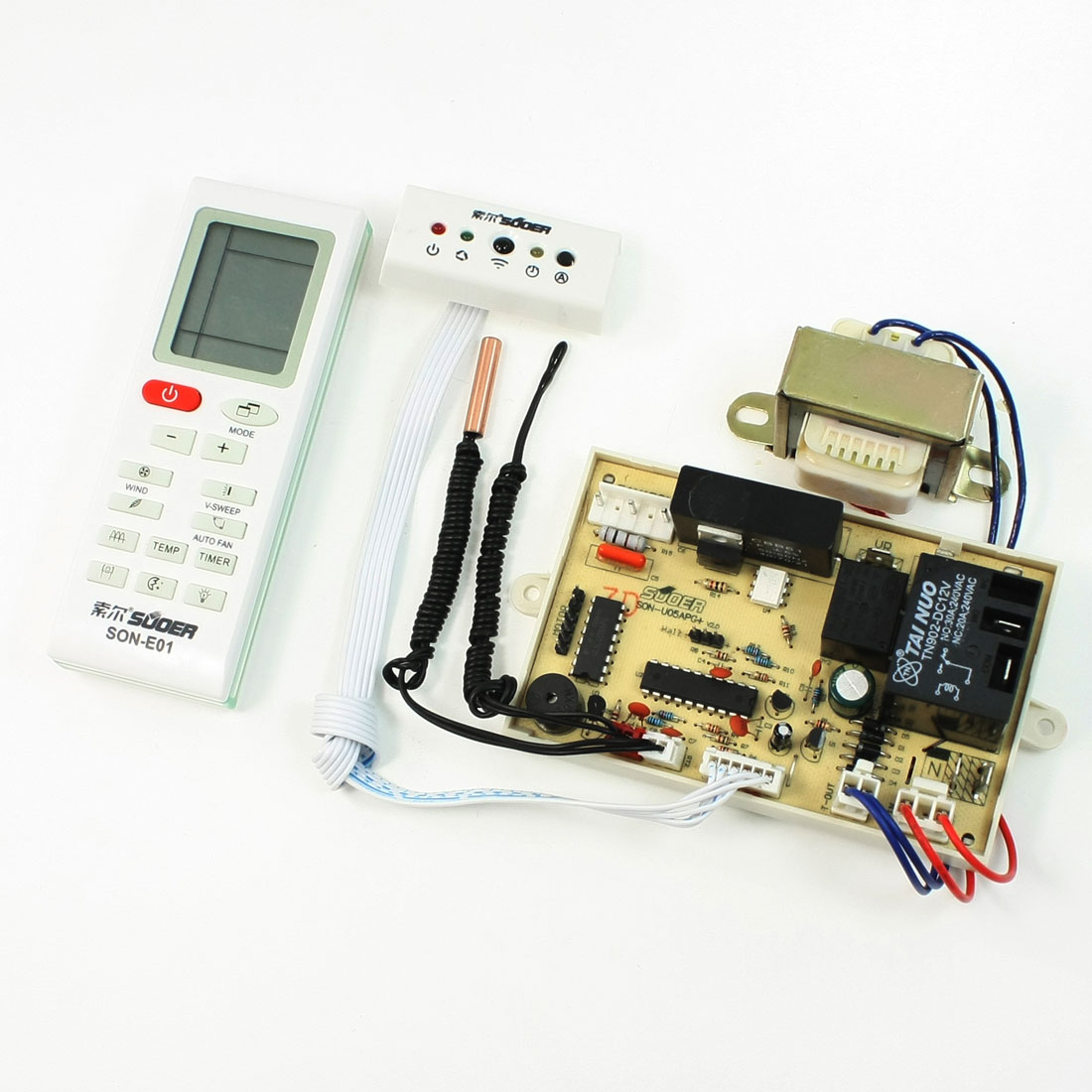 Air Conditioner Control PCB Board + Remote Controller + Power Transformer U05APG
