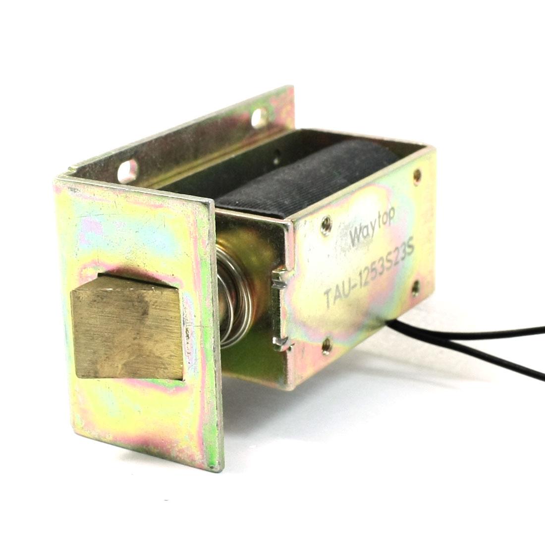 1Kg Force DC 24V 3A Open Frame Push Linear Solenoid Electromagnet