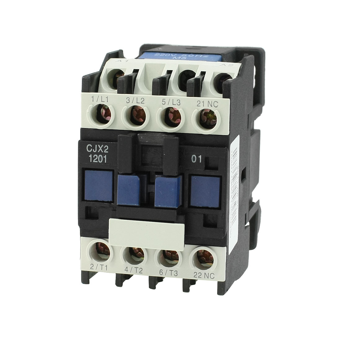 Motor Control AC Contactor 3 Phase 3-Pole Coil 220 Volts 20A CJX2-12