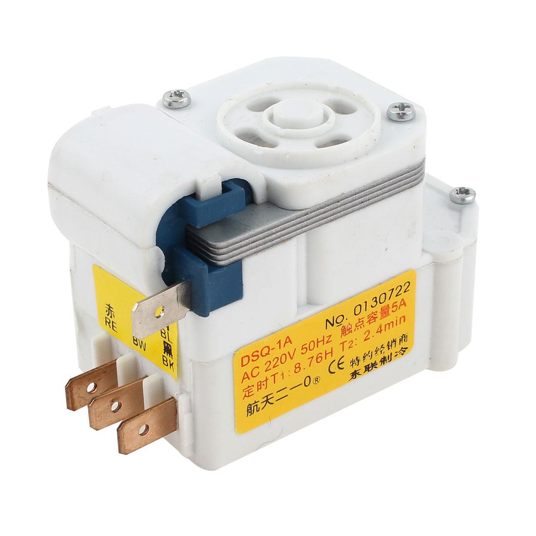 AC 220V DSQ-1A 4 Pins Refrigerator Fridge Defrost Timer
