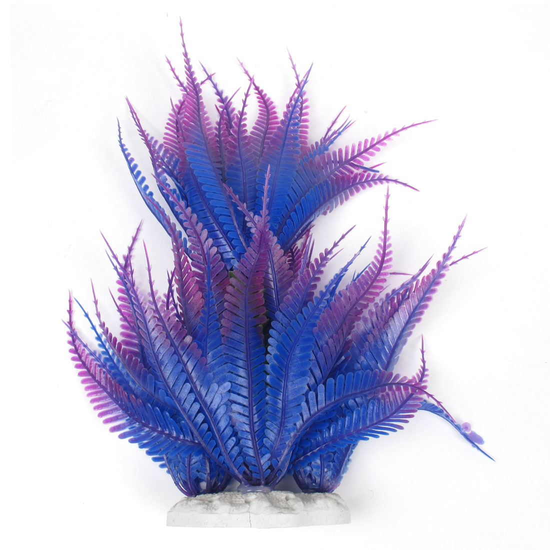 "Purple Blue Plastic Simulation Coconut Tree Plant Grass 10"" High for Aquariume"