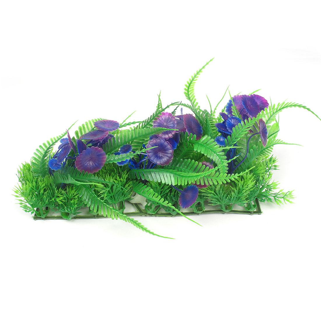 "Fish Tank Ceramic Base Imitated Plants Grass Decor Green Blue Purple 5.9"""
