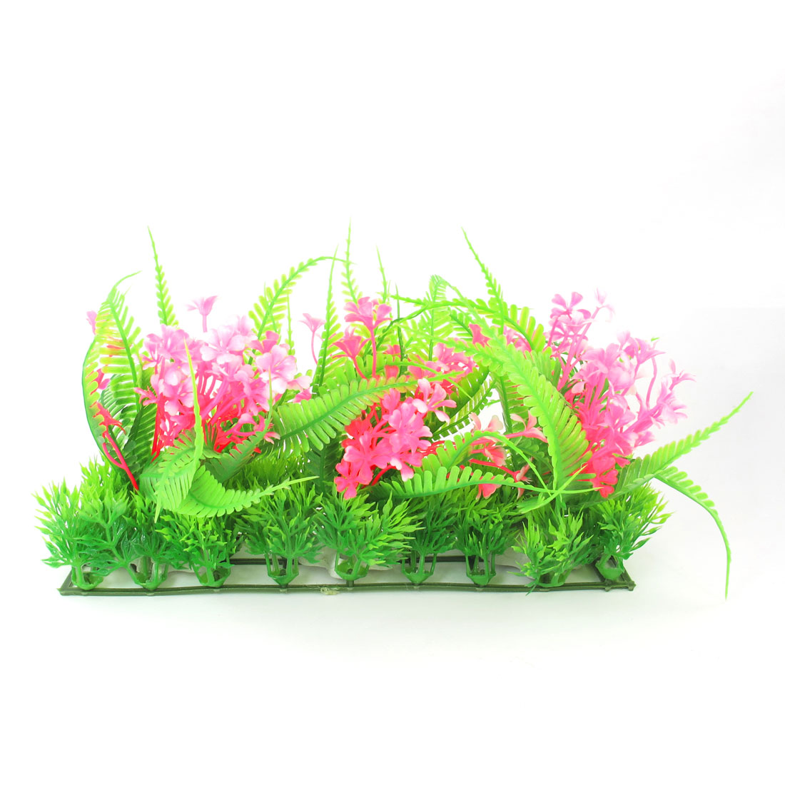 "5.9"" Height Aquarium Aquascaping Emulational Flower Plant Ornament Pink Green"