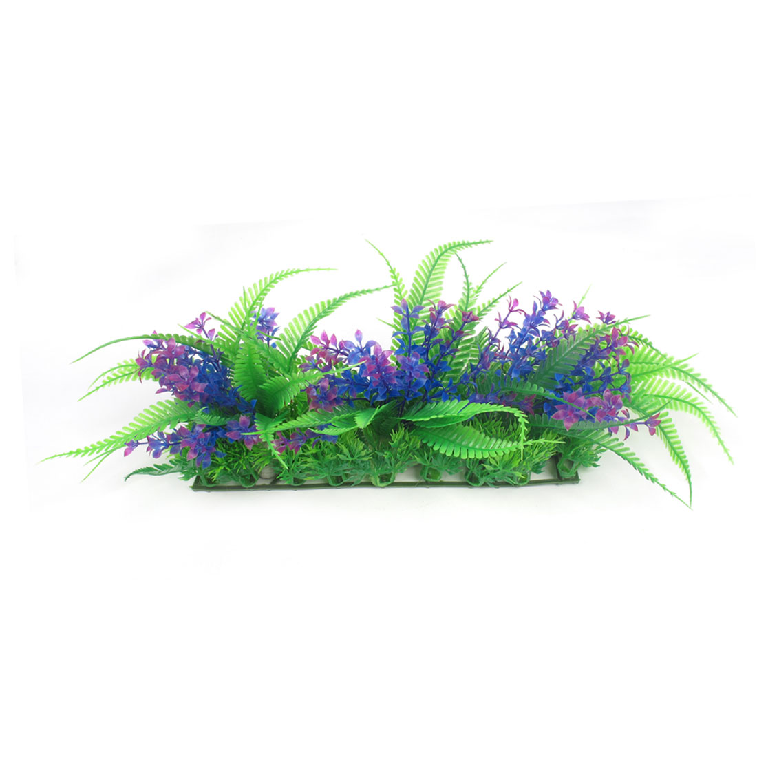 "7.1"" Aquarium Fish Tank Decor Blue Purple Green Plastic Water Plant Grass"