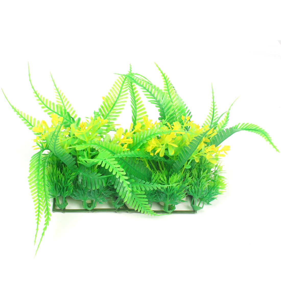 "5.1"" Height Green Yellow Plastic Aquatic Grass Plants for Aquarium Fish Tank"