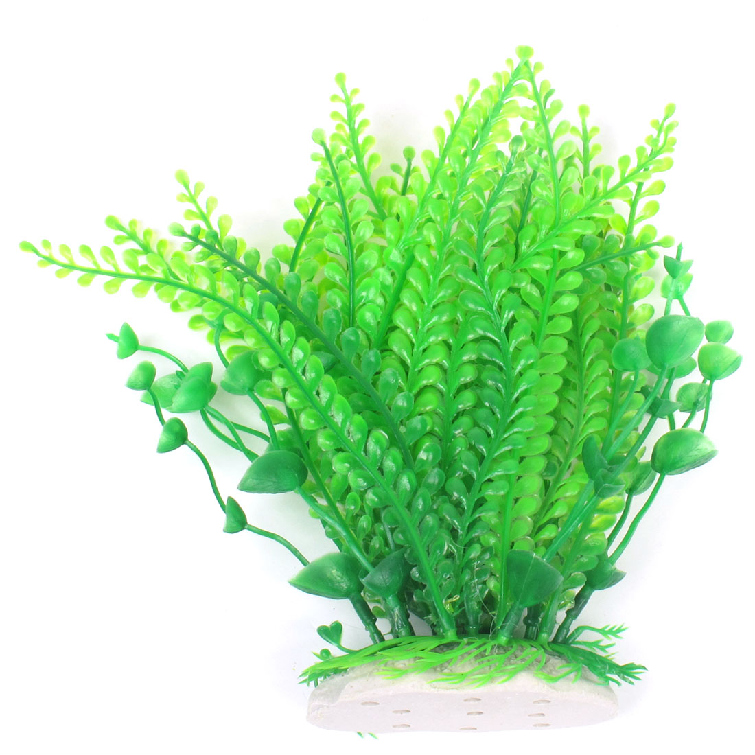 "Green Aquarium Plastic Simulation Grass Plant Decoration 7"" High"