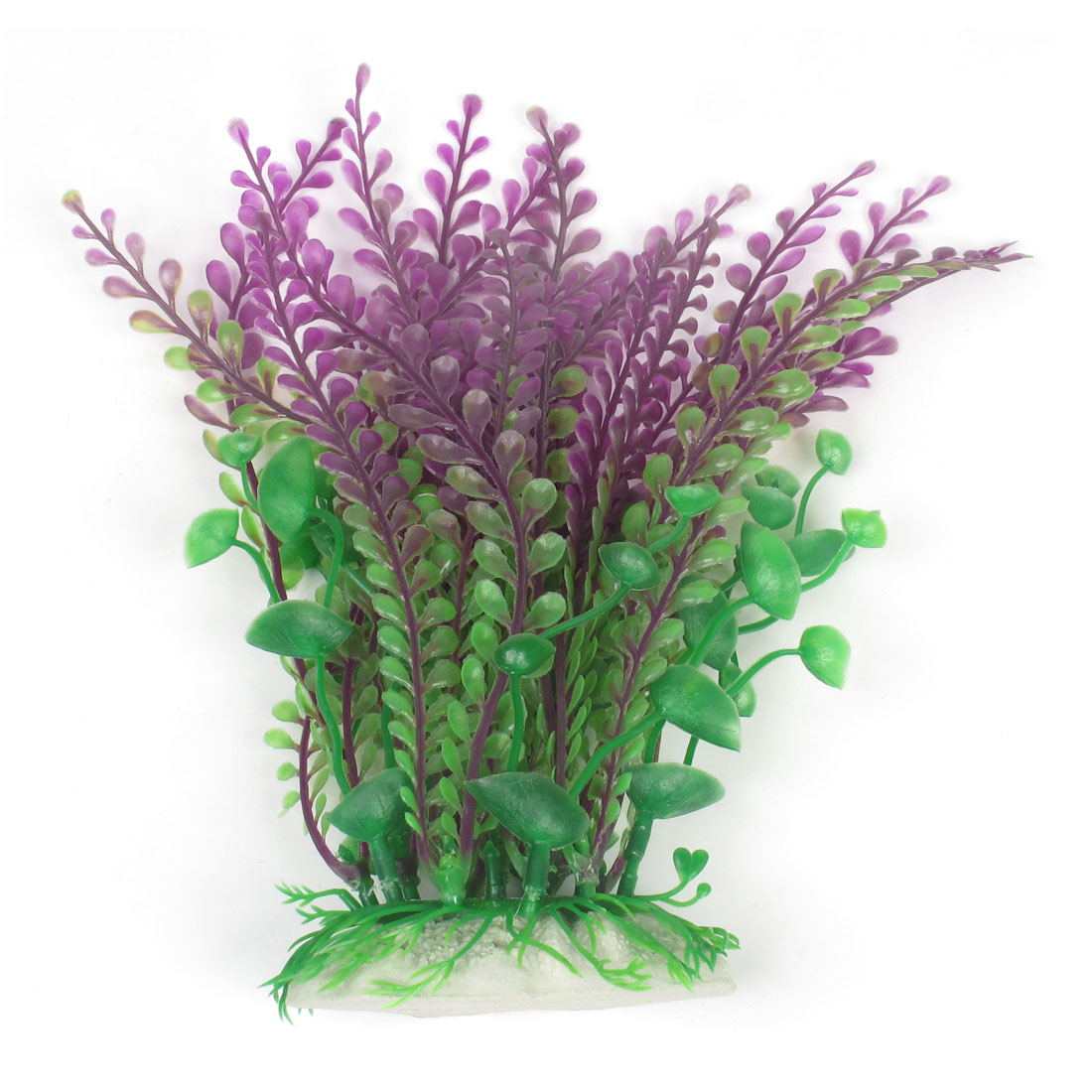 "Aquarium Landscaping Imitated Float Plant Grass Decor Fuchsia Green 8.3"" Height"