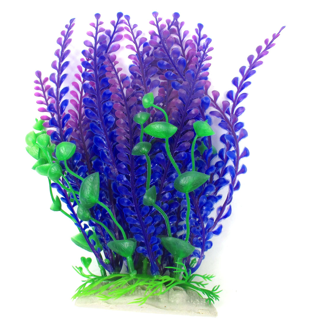 "Aquarium Tanks Landscaping 8.3"" High Green Purple Blue Simulated Plant Grass"