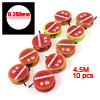 10 Pcs Red Yellow Foam Roller 4.70Kg 0.250mm Fishing Line Spool 4.5 Meter