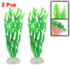 "2 Pcs Fish Tank Green Man-made Aquatic Kelp Grass Plant Ornament 12"" Height"
