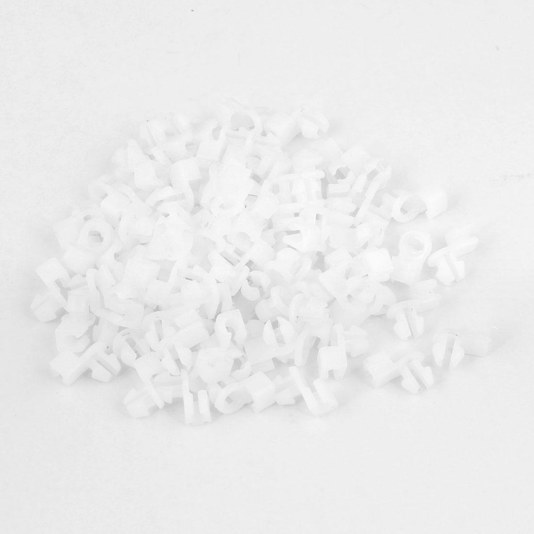 100pcs 4mm Hole Diameter Plastic Rivet Car Door Trim Panel Retainer Clip White