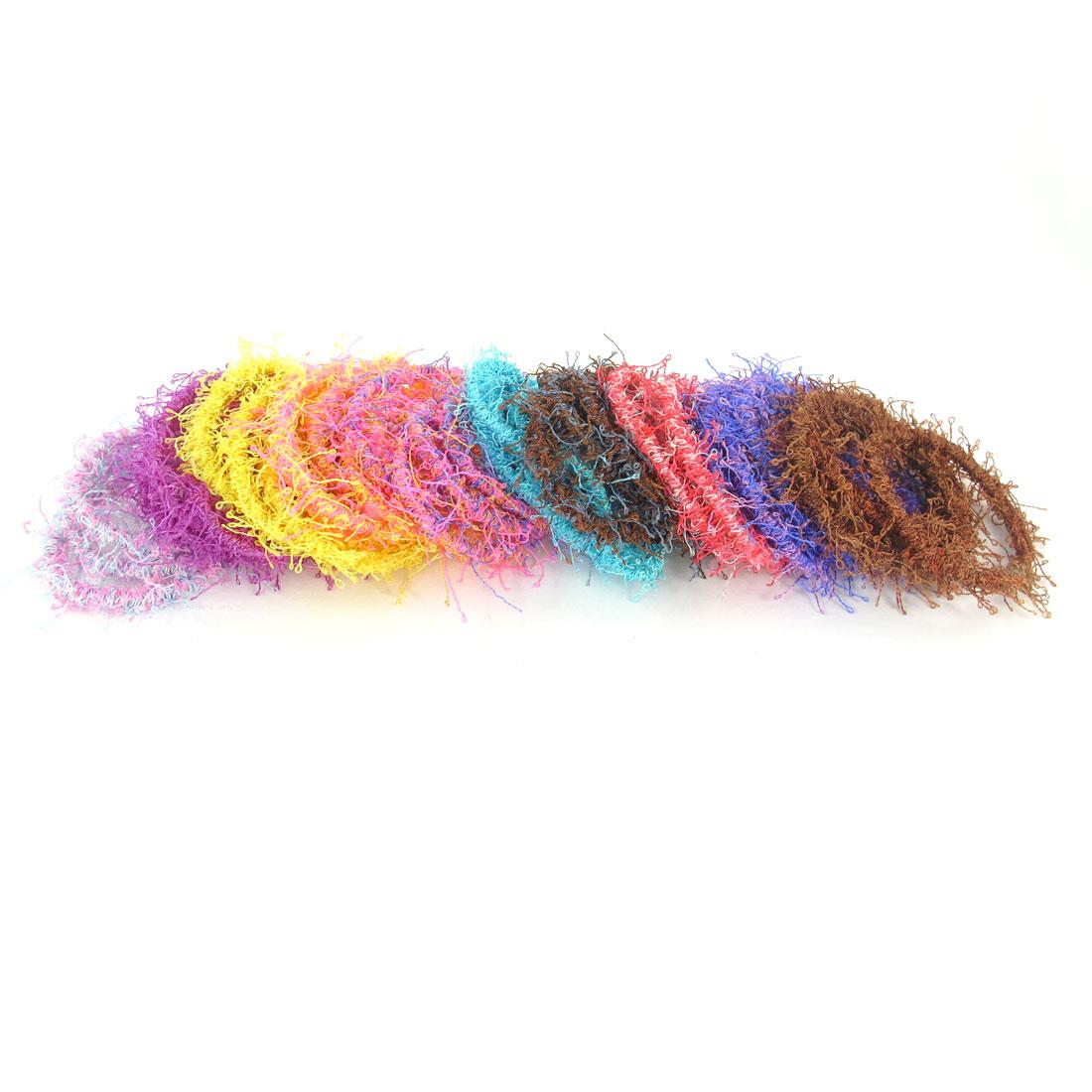 80pcs Assoeted Color Nylon Elastic Rubber Hair Band Ponytail Holder for Girls