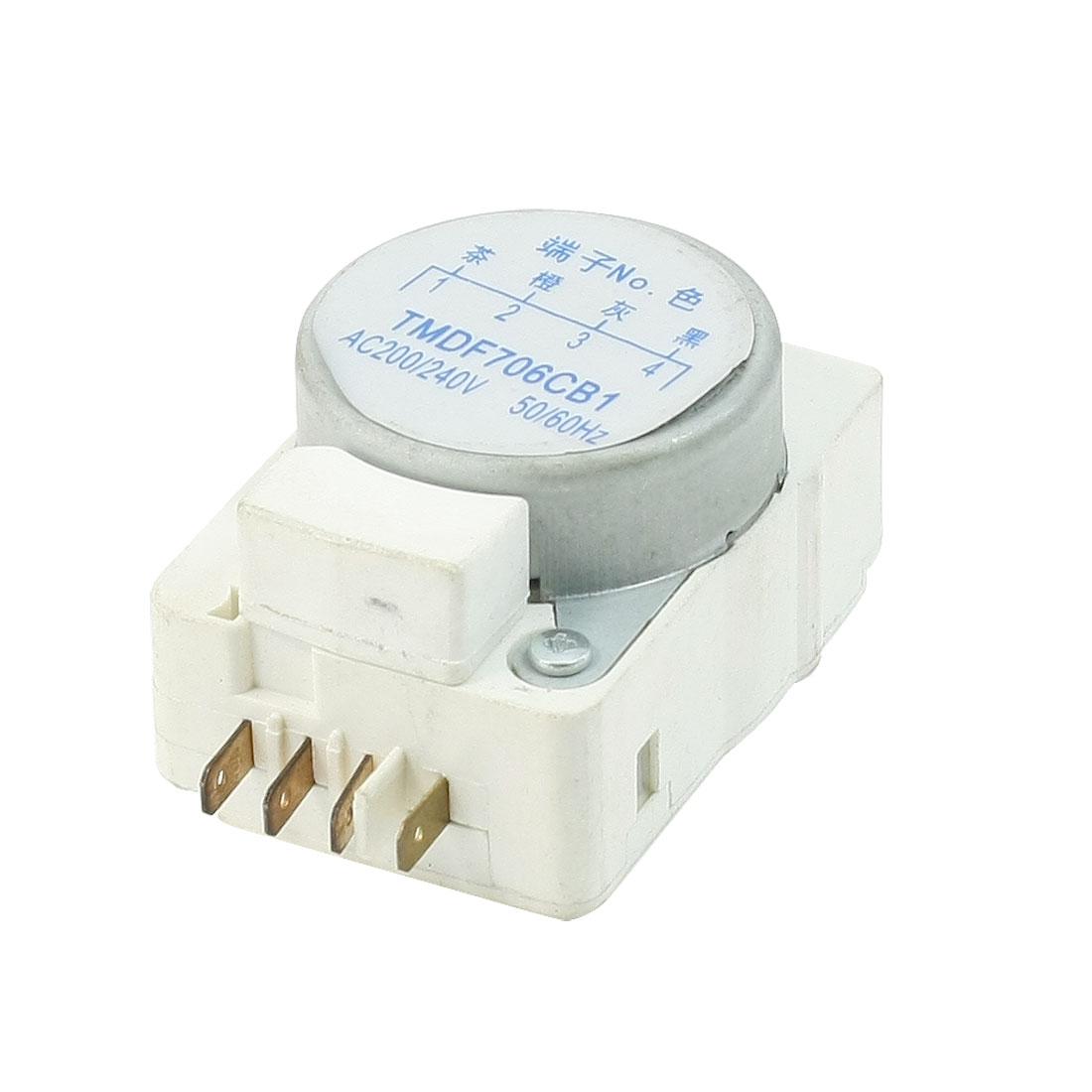 AC 200/240V 50/60Hz 4 Terminals Refrigerator Defrost Timer TMDF706CB1
