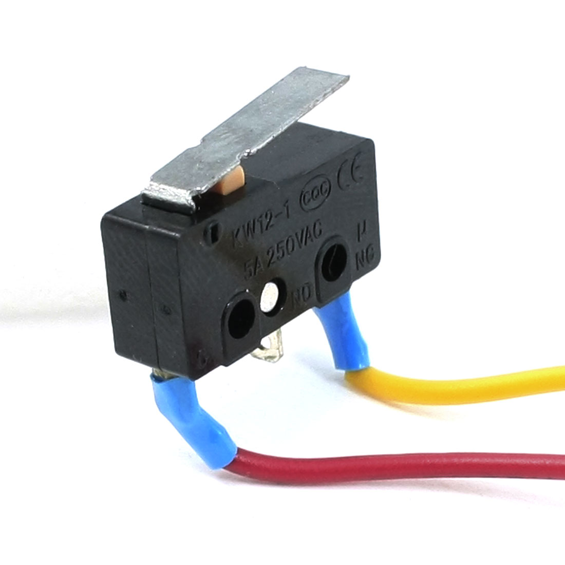 AC 250V 5A Momentary Ignition Hinge Lever Microswitch w Cable