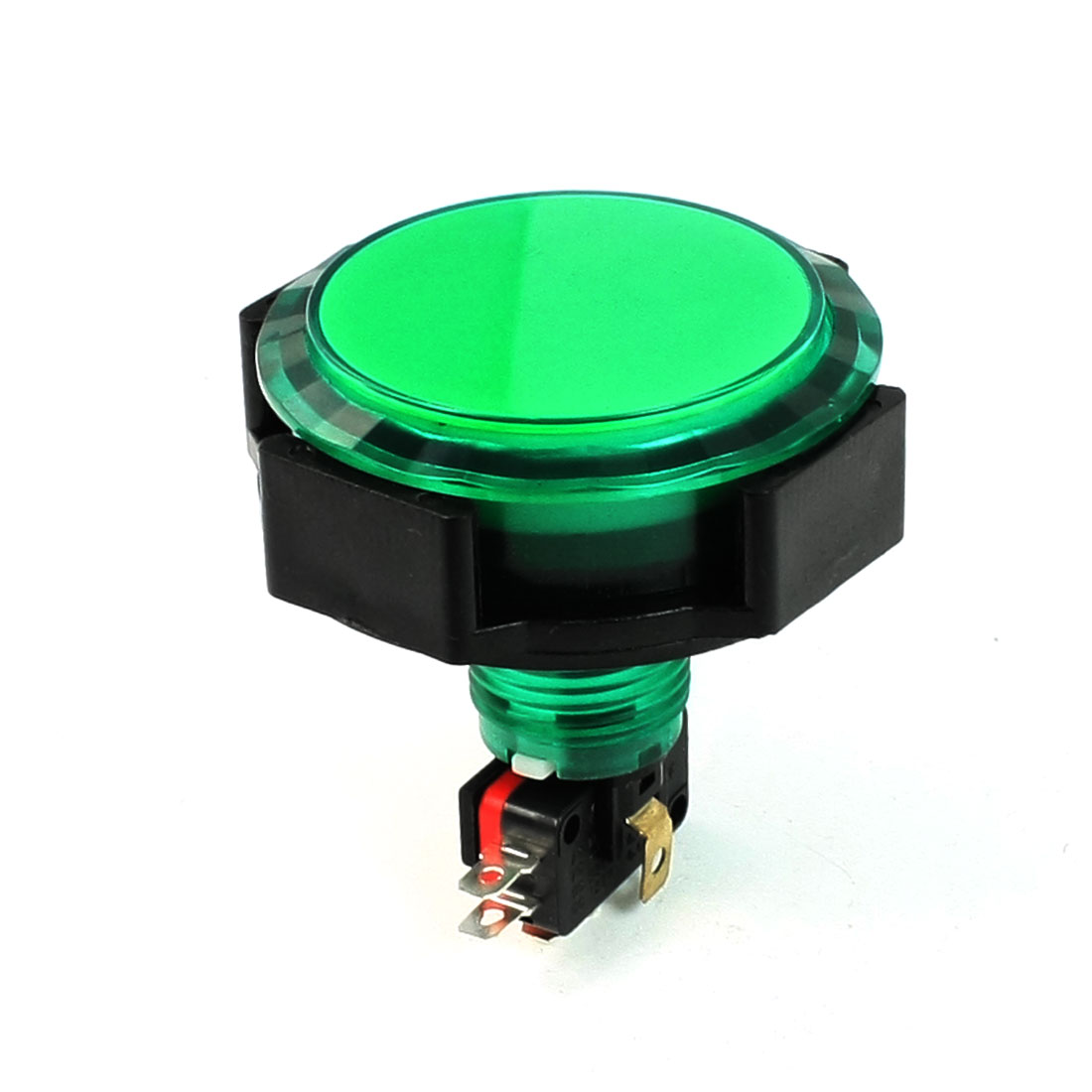 AC 125V/250V 15A 24mm Diameter Thread Momentary Push Button Switch Green