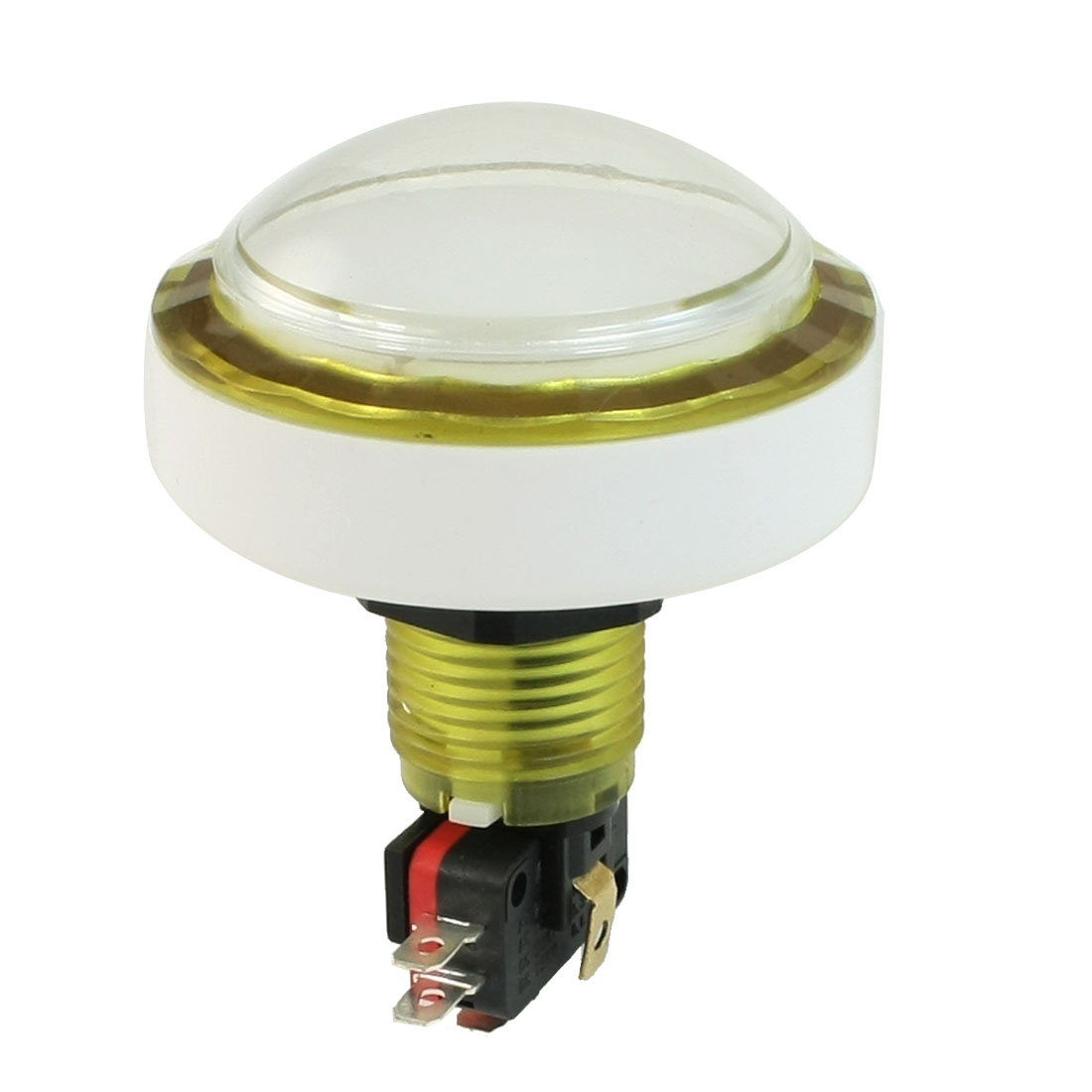 AC 125V 250V 15A Clear Cap White Light NC NO Momentary Push Button Switch
