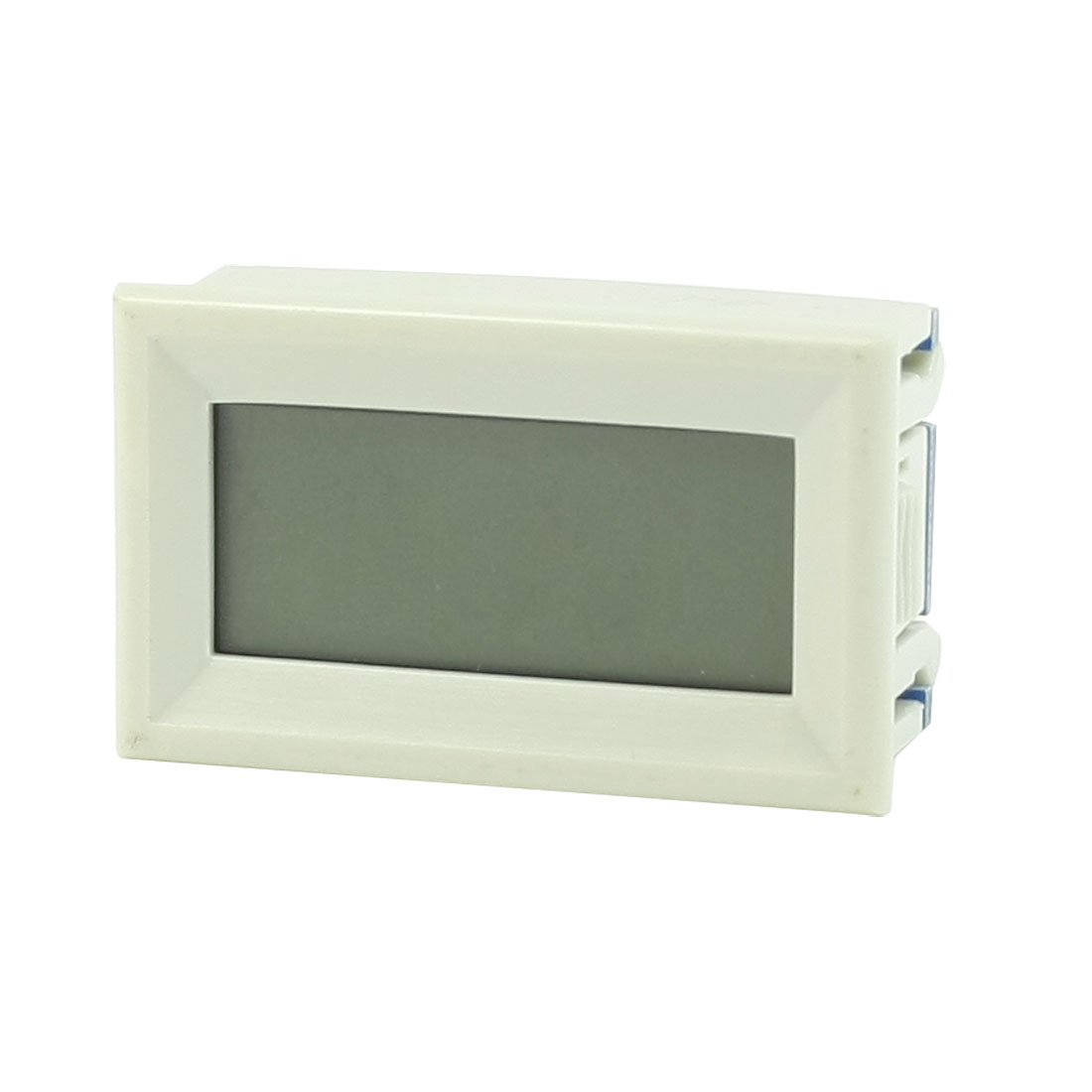 Off White Rectangle Case DC 0-2A LCD Display Digital Ammeter Panel