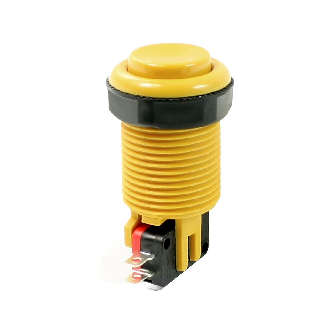 AC 250V 15A Panel Mounting Type 28mm Dia Thread Momentary Push Button Switch
