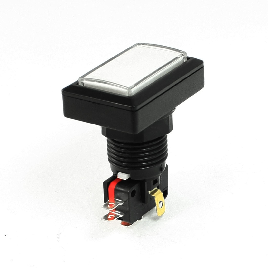 AC 125V/250V 15A Illuminated Rectanglular White Momentary Pushbutton Switch