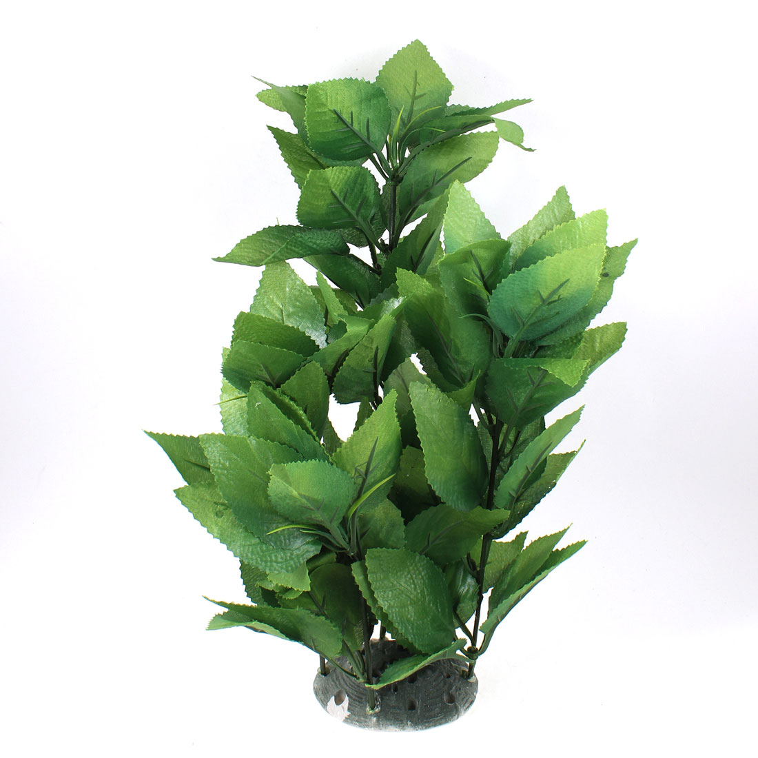 "13.1"" Height Aquascaping Green Fabric Plastic Plant for Aquarium Tank"