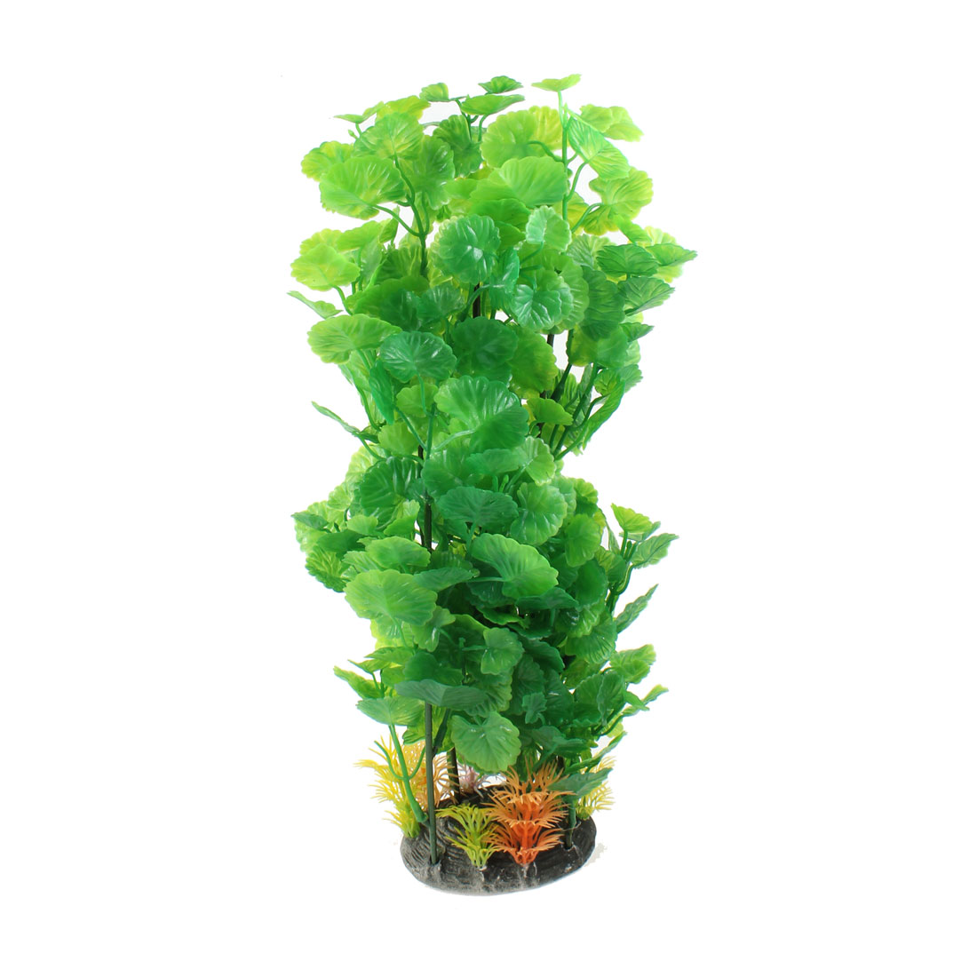 "13.3"" Height Apple Shape Leaves Decor Manmade Underwater Grasses for Fish Tank"