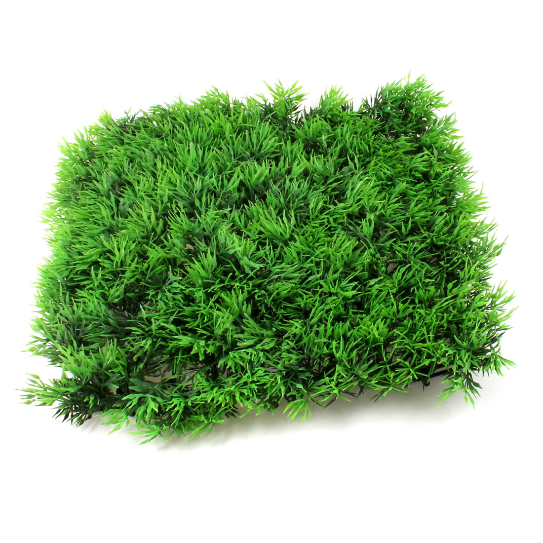 "Plastic Green Manmade Lawn Decor for Aquarium 9.4"" x 9.4"""