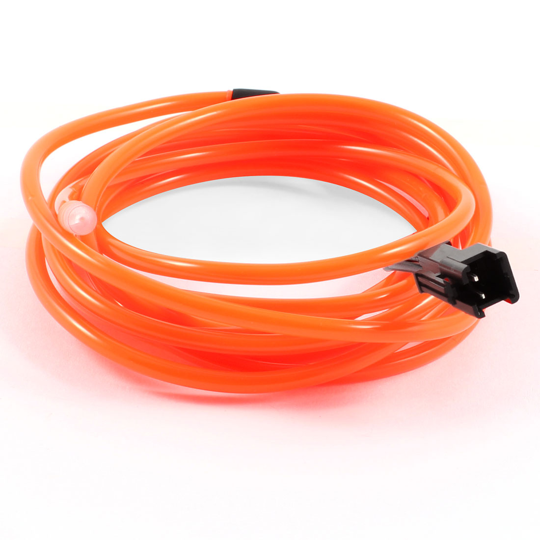 2M Long 3.2mm Dia Orange Flexible EL Wire Neon Glow Strip Light Rope Line