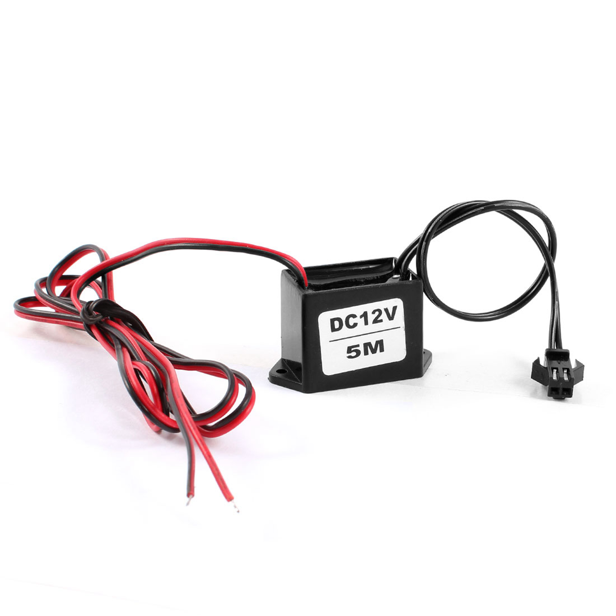 Red Black Cable DC 12V EL Wire Neon Glow Strip Light Driver Unit Inverter