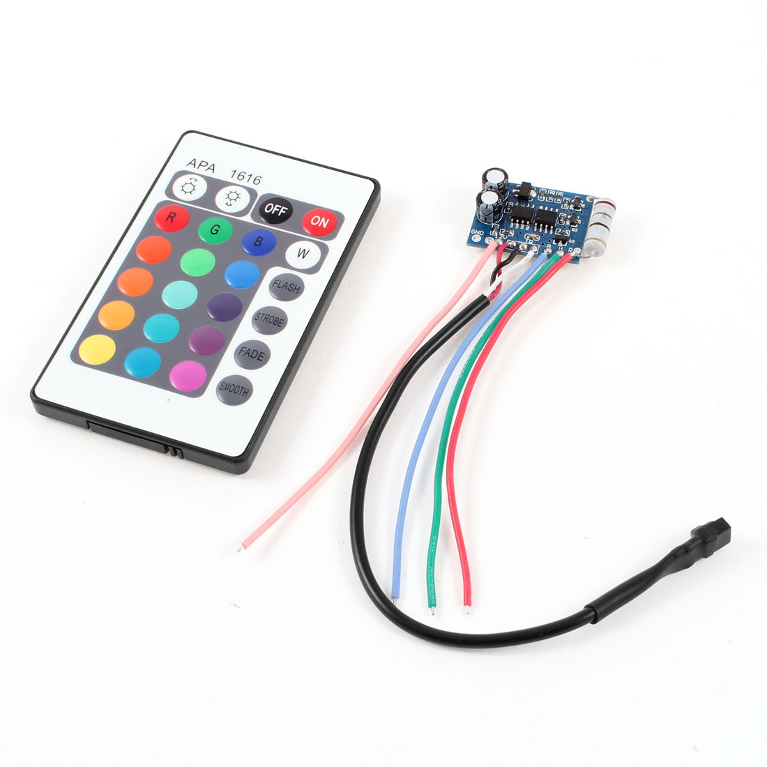 DC 5V-12V 24 Keys RGB IR Remote Controller for 3528 5050 LED Strip Light
