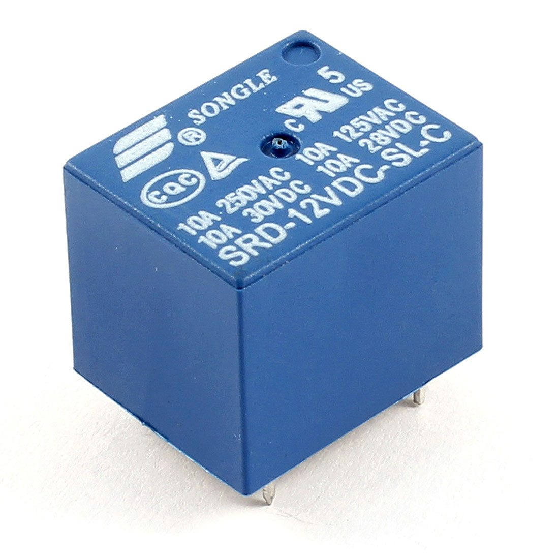Blue PCB Mount DC 12V SPDT 5 Pin Mini Power Relay SRD-12VDC-SL-C