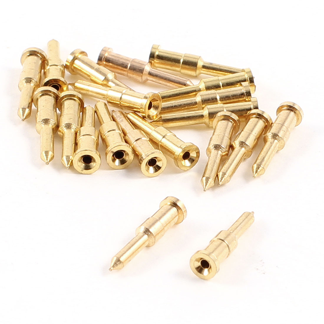 20 Pcs Gold Plated Alloy Male Crimp Center Pin for 75-5 BNC Q9 Connector