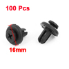 100 Pcs 18mm Long Plastic Push Fasteners Rivets Fender Clips 16mm Head for Car