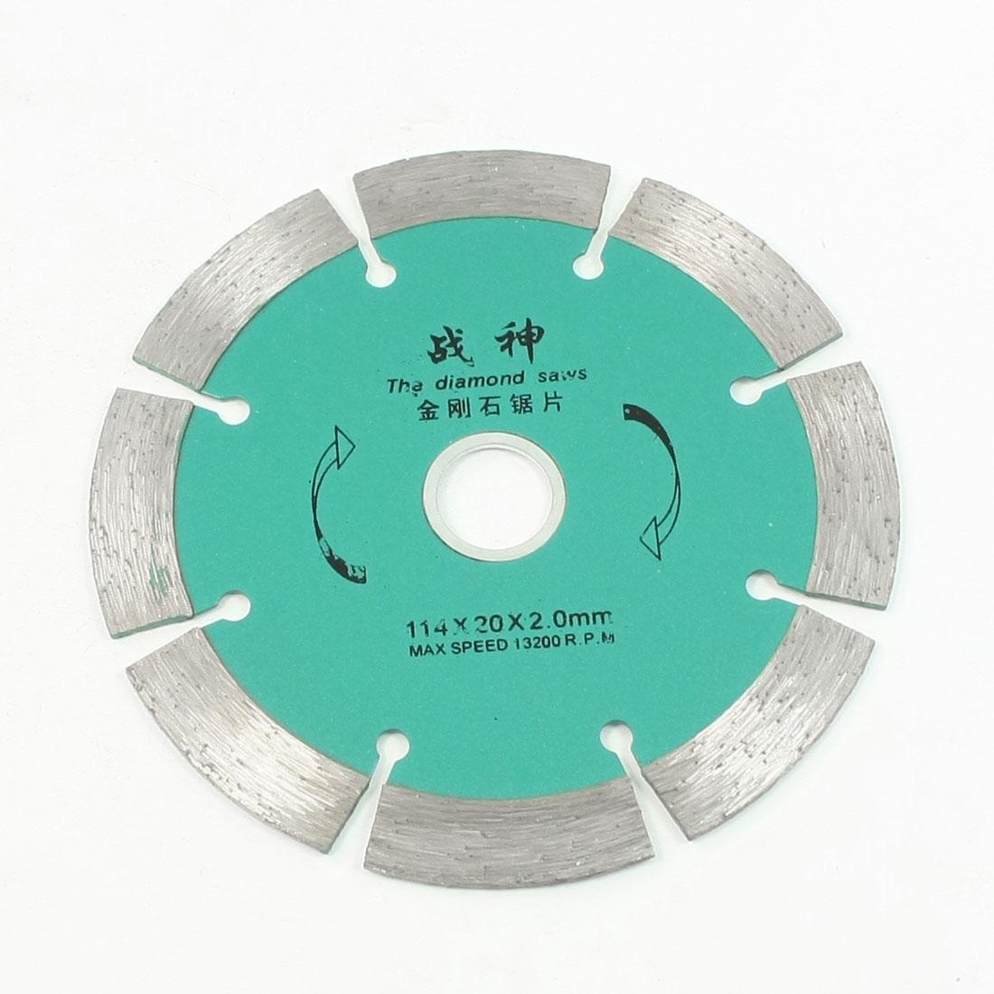 Circular Crack Disc Diamond Saw Cutting Slice 114mm x 20mm x 2mm