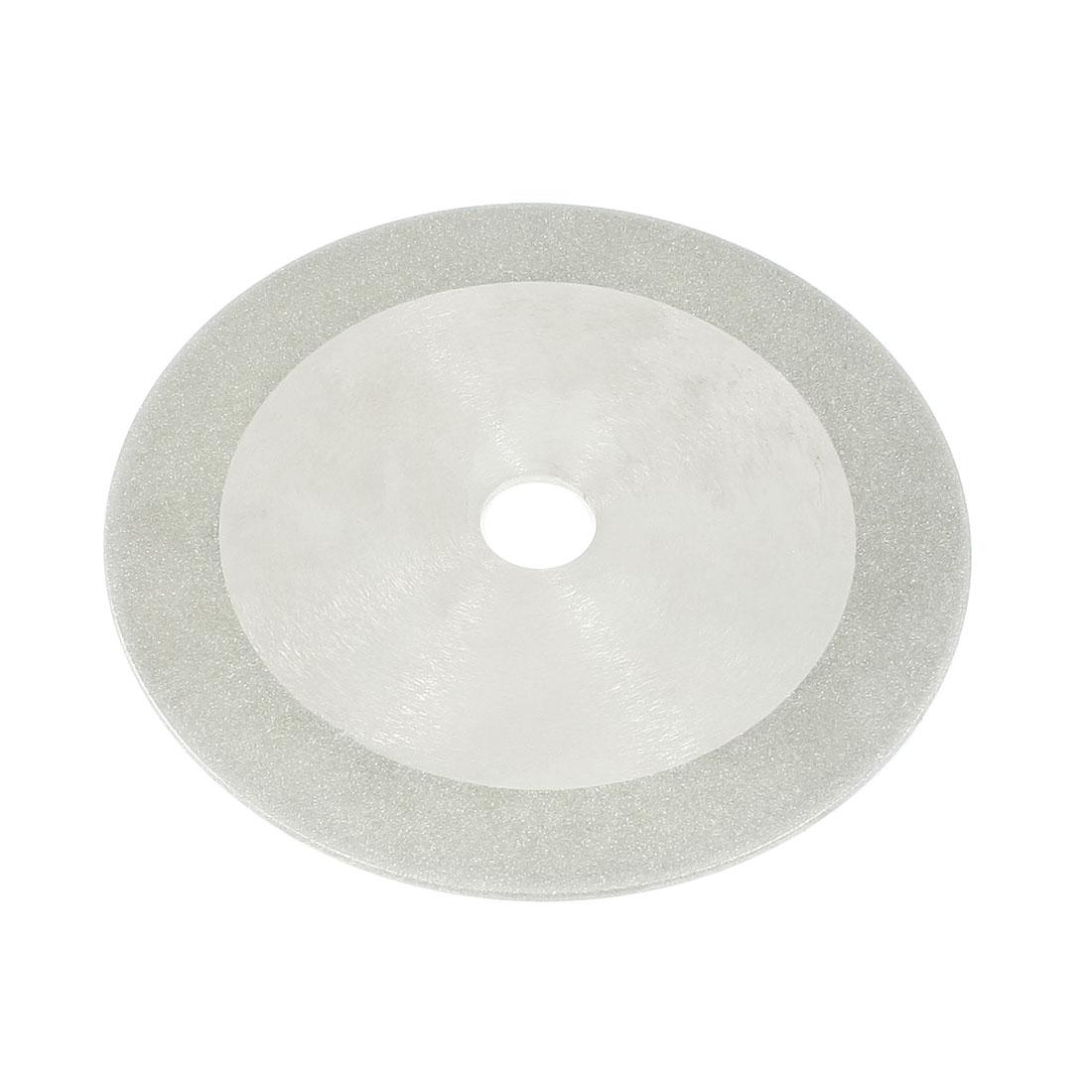 150mm x 20mm Aluminum Resin Bond Diamond Coated Grinding Wheel Silver Tone
