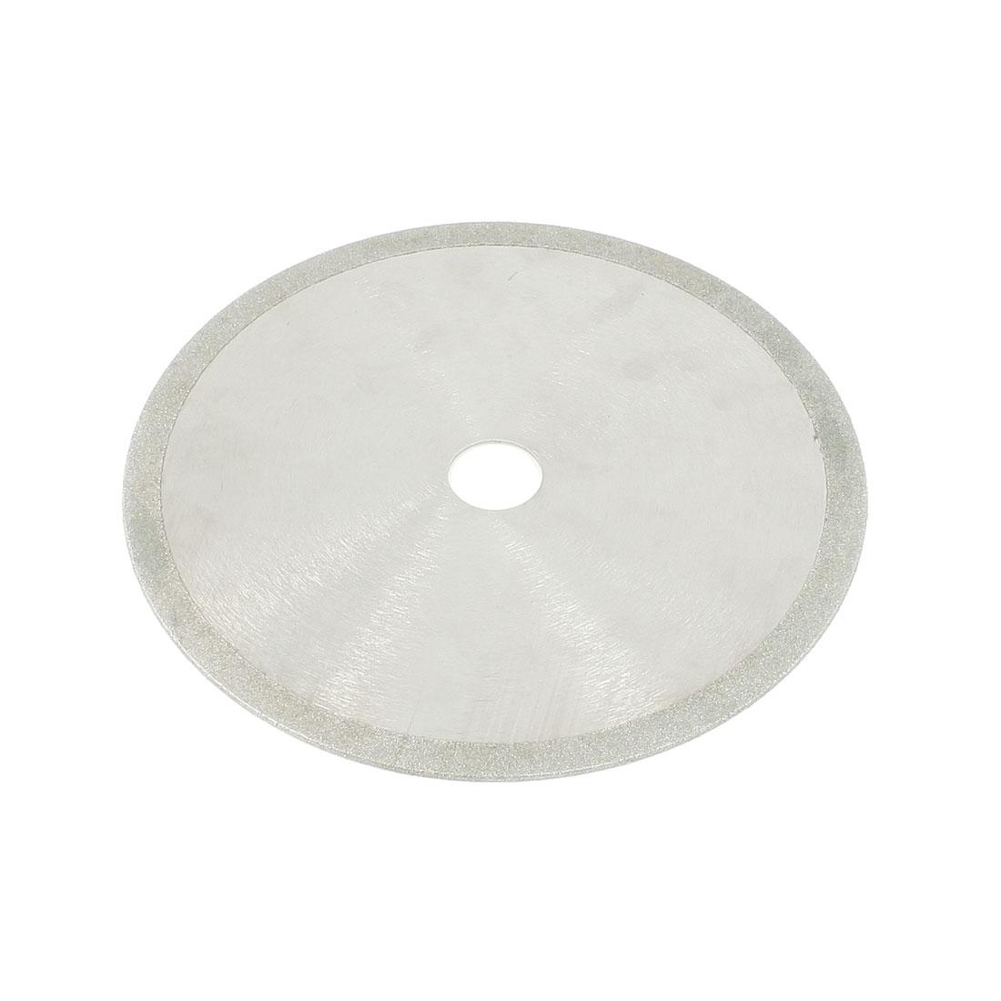 """Silver Tone 7.9"""" Outer Diameter 1"""" Inner Diameter Diamond Grinding Wheel"""