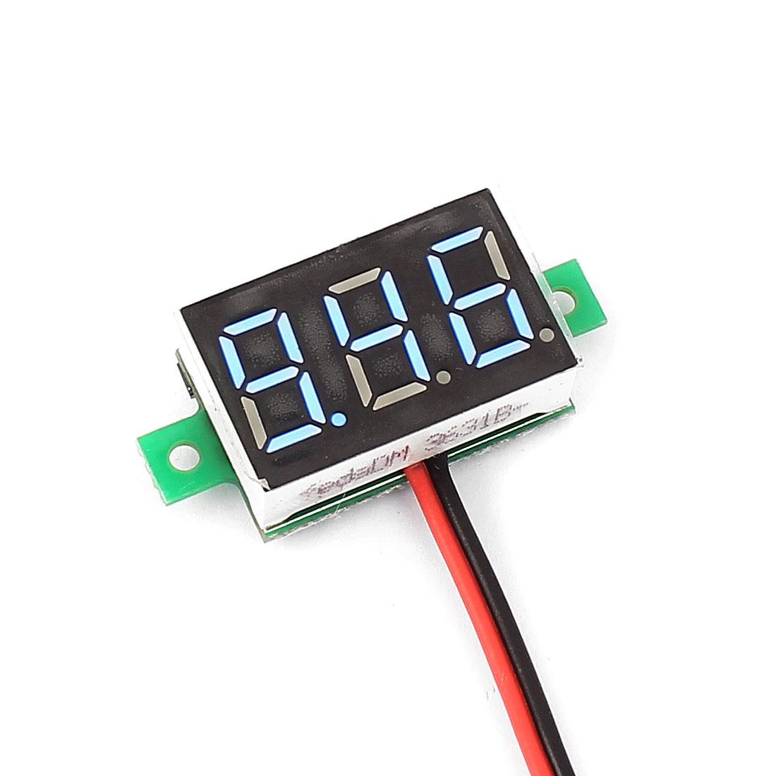 DC 2.5-30V 2-Wire Mini Red LED 3-Digit Volt Voltage Panel Meter Voltmeter