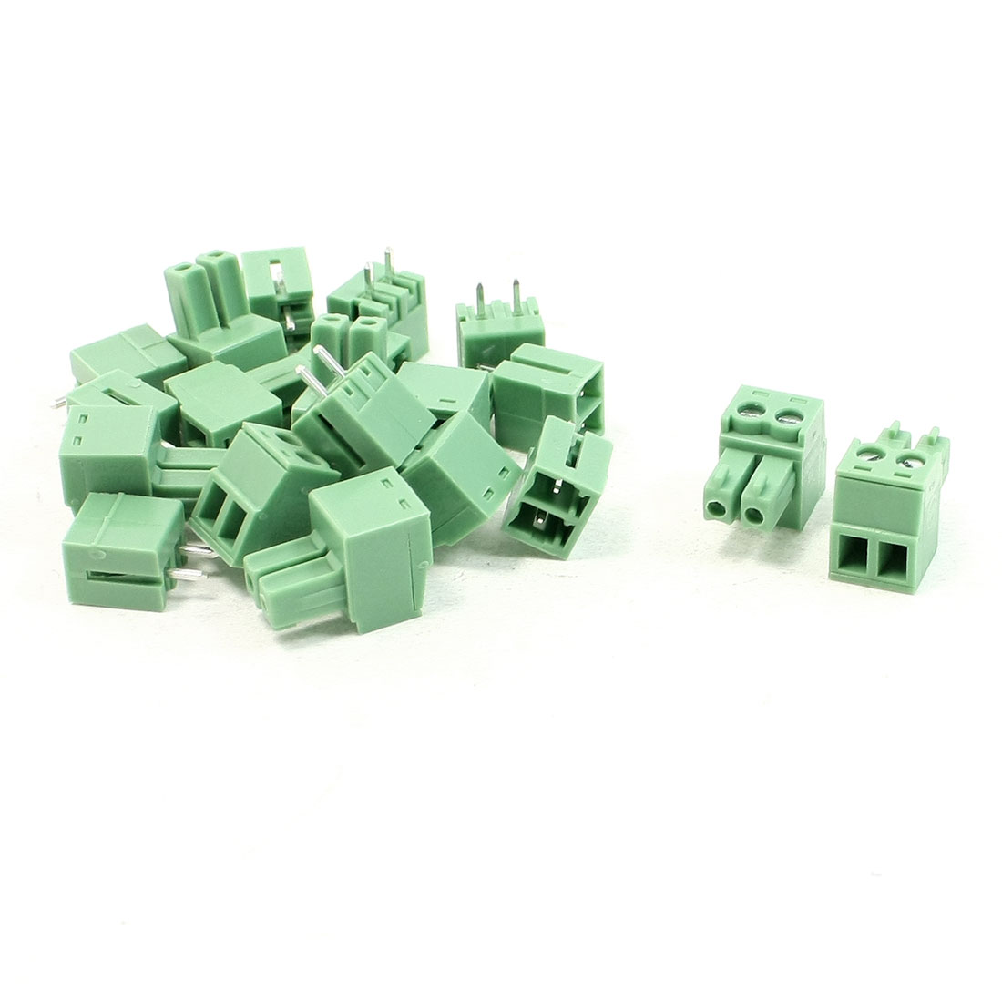 10 Set 2 Pole 3mm Pitch PCB Mount Screw Terminal Block AC 300V 8A