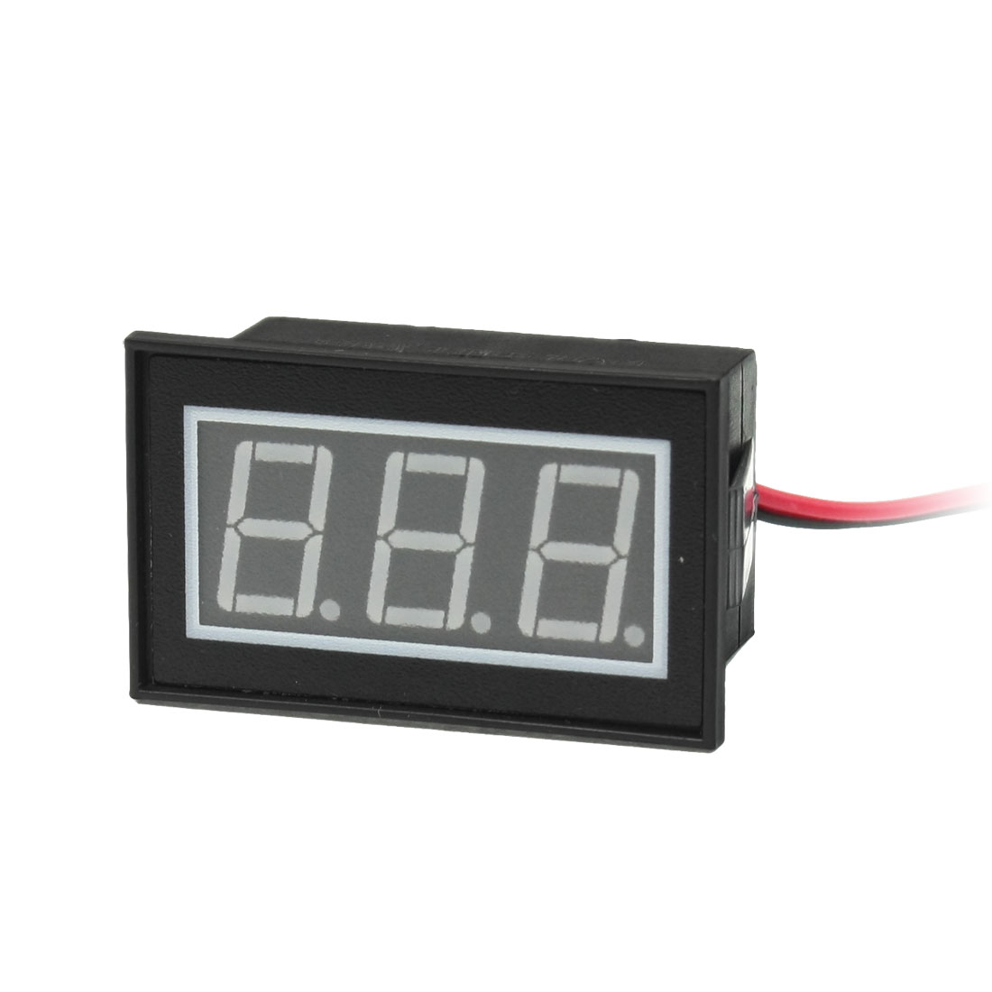 DC 2.5-30V 2-Wire Waterproof 3-Digit Display Red LED Volt Panel Meter Voltmeter