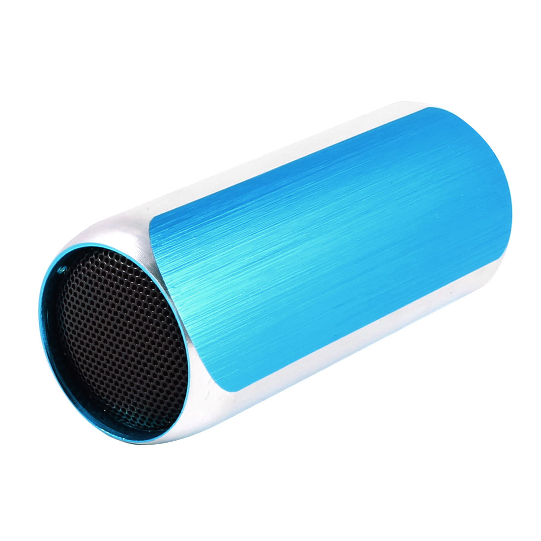 Cell Phone PC Mini Speaker MP3 Player FM Audio Radio Sound Sky Blue w USB Cable