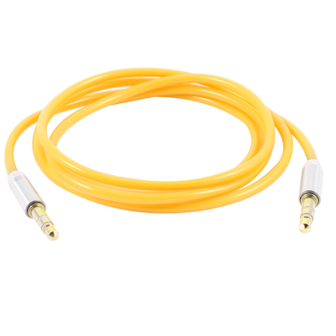 3.34ft 1.02M 3.5mm M/M Audio Aux Cable Cord Yellow for Smartphone Mp3 Mp4 PC
