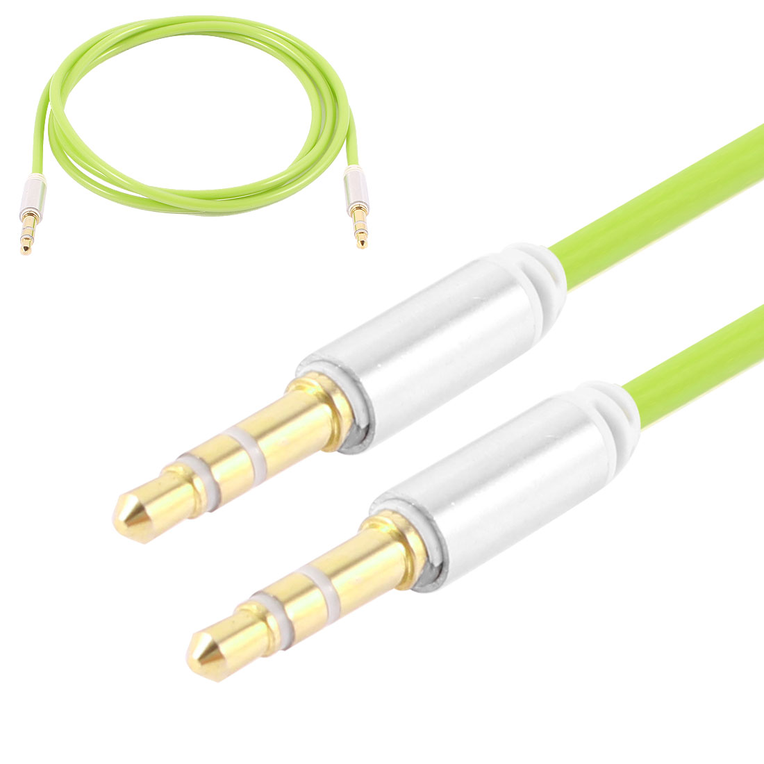 Green 3.5mm Male to Male M/M Audio Cable Cord 1.02M for PC Mobile Phone Mp4