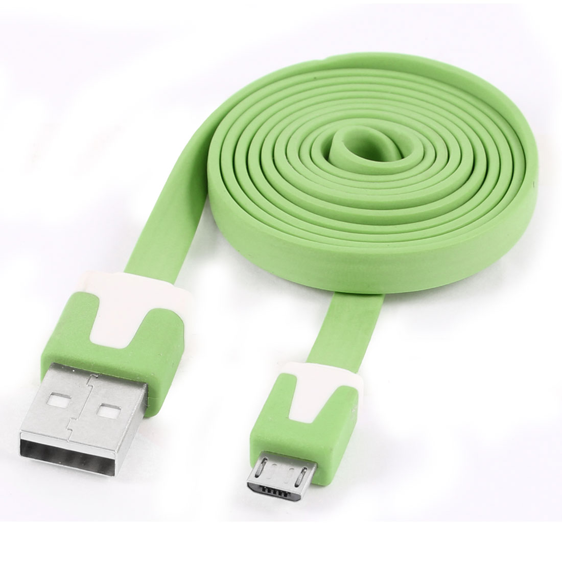 Cell Phone 3.3Ft Micro USB Flat Data Sync Charger Cable Lead Line Green