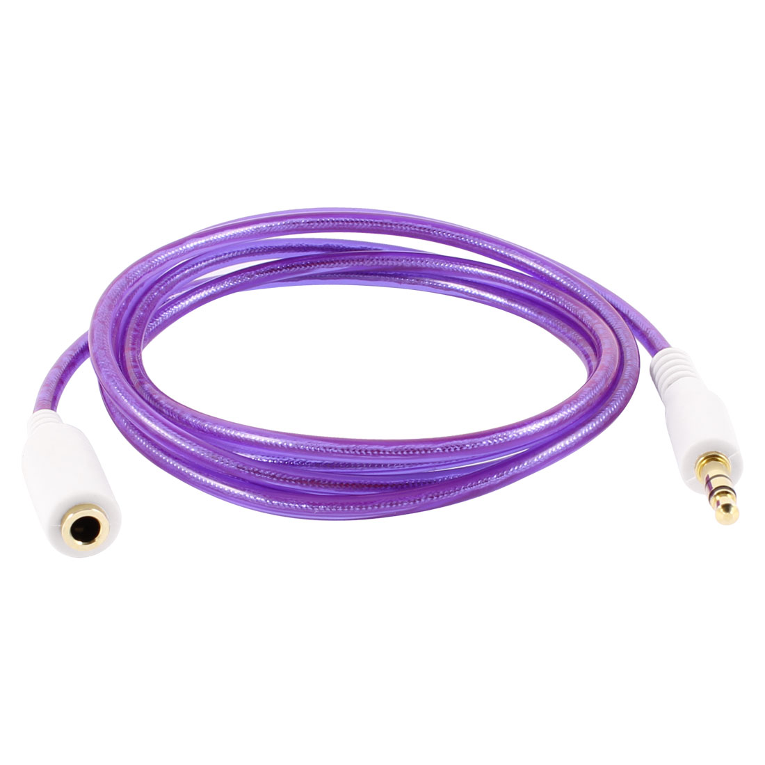 Purple 3.5mm Male to Female M/F Audio Cable Cord 1.06M for PC Mobile Phone Mp4