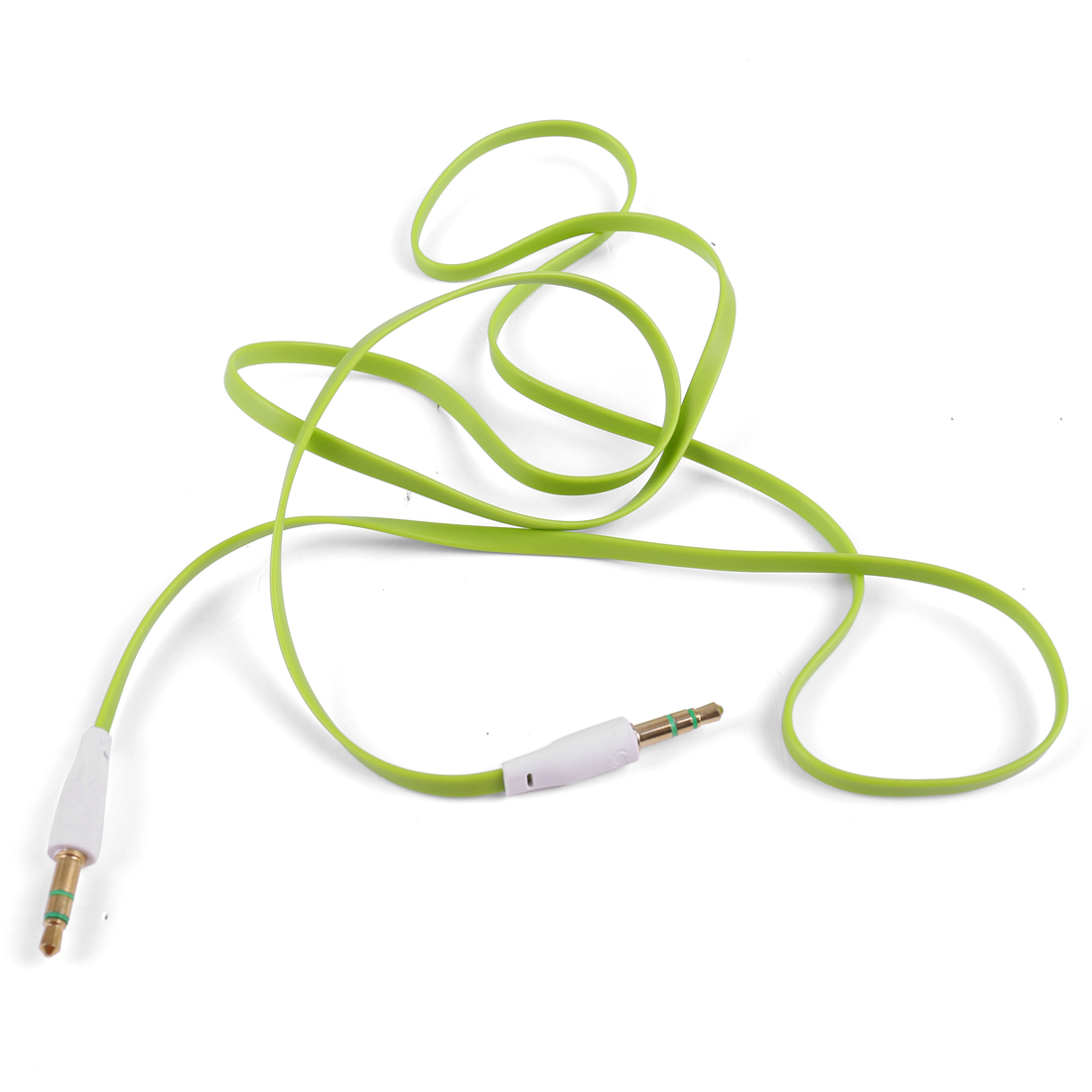 PC MP3 Adapter M/M 3.5mm to 3.5mm Flat Audio Extension Cable 3.4ft Green