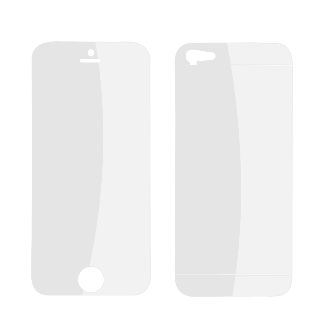 2 Pcs Front + Back Clear Screen Protector Guard Cover for iPhone 5 5G