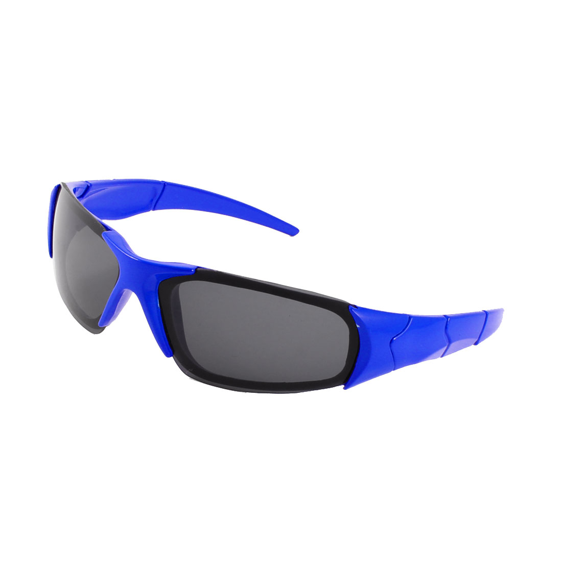 Blue Plastic Single Bridge Full Rim Black Rectangle Lens Sunglasses for Children